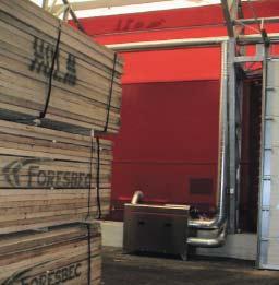 Осушитель воздуха роторный на складе древесины