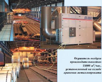 адсорбционные осушители воздуха при хранении металлопроката